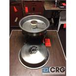 Lot of (4) 6 Qt round stainless chafing dishes, 14 in. diameter