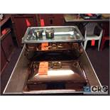 Lot of (2) 8 Qt copper plated rectangular Chafing dishes, 12 x 20