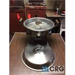 Lot of (3) 6 Qt round stainless chafing dish, 14 in. diameter