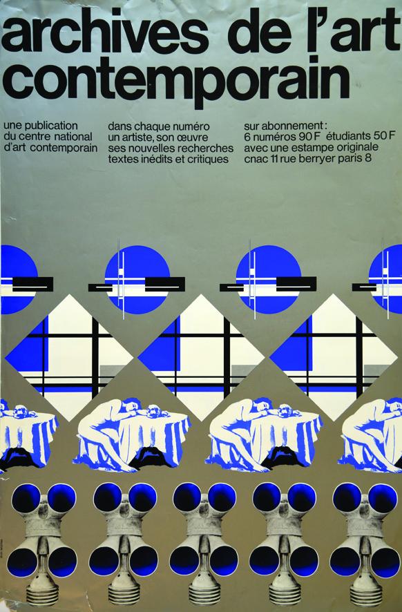 Archives de l 39 art contemporain vers 1980 widmer jean 1 for Poster contemporain