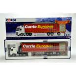 Corgi 1/50 Diecast Truck Issue Comprising No. CC14040 Volvo FH Super Trailer in livery of Currie