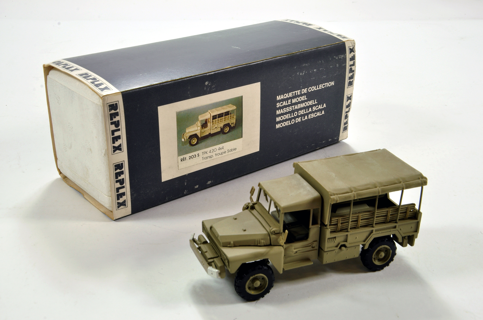 Lot 1084 - Replex (France) 1/50 High Detail Acmat TPK 4.20 Troop Carrier. Scarce issue is NM in Box.