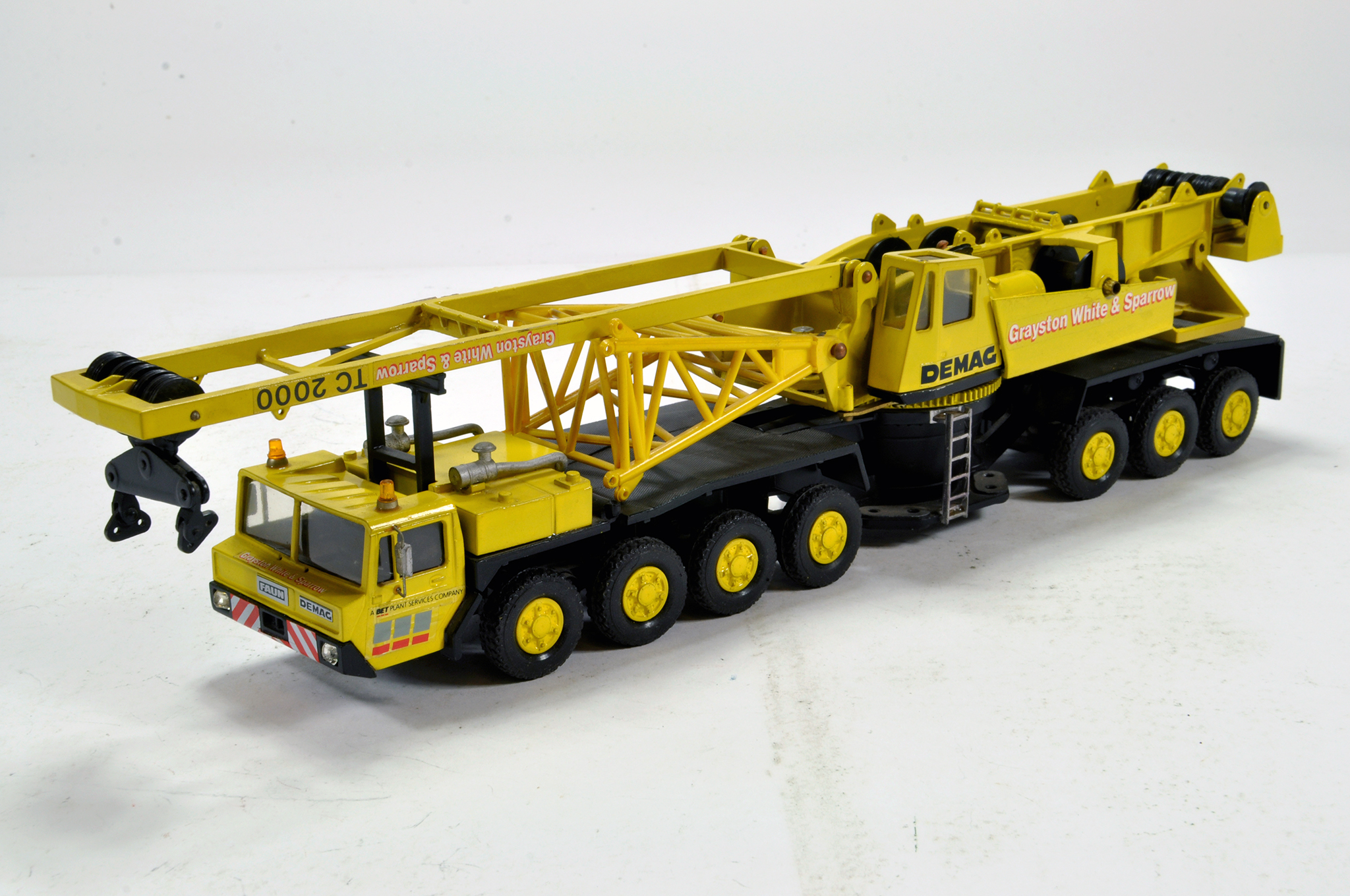 Lot 573 - Zon Models (Holland) 1/50 construction issue comprising White Metal Demag TC2000 Mobile Truck