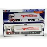 Corgi 1/50 Diecast Truck Issue Comprising No. CC13751 Scania R Fridge Trailer in livery of Morgan
