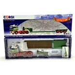 Corgi 1/50 Diecast Truck Issue Comprising No. CC15507 Volvo F12 Low Loader in livery of Cadzow