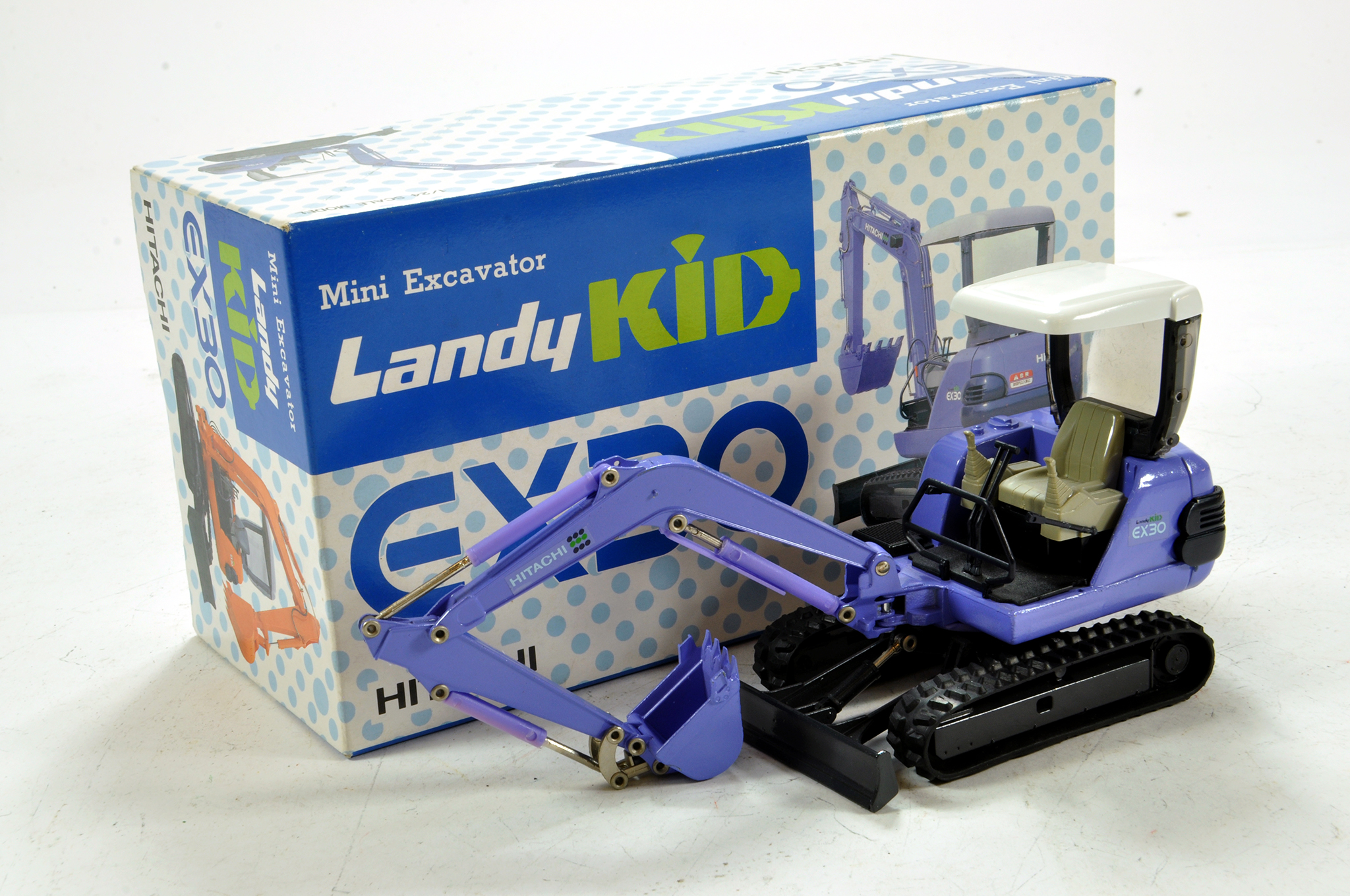 Lot 673 - Scarce Japanese OEM produced 1/24 Hitachi EX30 Excavator. E to NM in Box.