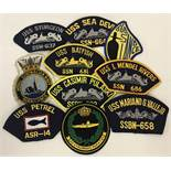 A collection of 10 submarine cloth patches.