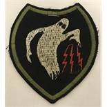"""WW2 Style US 23rd HQ """"Ghost"""" Squadron Fabric Patch."""
