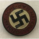 Late WW2 Style N.S.D.A.P Ersatz (economy) Issue Lapel Pin.
