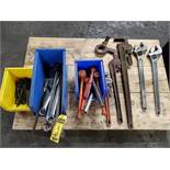 (3) BOXES OF 24'' CREATOLOGY CRESCENT WRENCH, ALLEN WRENCHES, RUBBER MALLETS, OPEN/CLOSED END