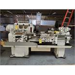 AXELSON 6' ENGINE LATHE, S/N 3039, SIZE 14'', 16 3/4'' SWING, 30'' BETWEEN CENTER, 1 1/2'' BAR