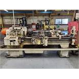 AXELSON 8' ENGINE LATHE, S/N 3614, SIZE 16'', 18 1/2'' SWING, 54'' BETWEEN CENTER, 12'' 3-JAW CHUCK,