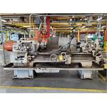 AXELSON 8' ENGINE LATHE, S/N 4866, SIZE 16'', 18 1/2'' SWING, 54'' BETWEEN CENTER, 12'' 3-JAW CHUCK,