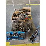 CART WITH ASSORTED TOOL HOLDERS & TOOLING