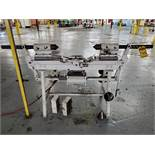 CUSTOM HORIZONTAL PNEUMATIC SPINDLE BALANCER, SPARE FLANGE, AND BLOCK DIES, 45'' BED