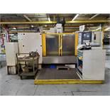 FADAL CNC VERTICAL MACHINING CENTER, MODEL VMC6030, FADAL CNC 32MP DRO CONTROL, HYDRO SWEEP CHIP