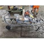 RIDGID MS-UV MITER SAW UTILITY VEHICLE, SAW MODEL R4122, 12'' BLADE, 4,000 RPM