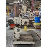 BARNSLEY YORKS NQS-R2 RADIAL ARM DRILL, 2' ARM, 7'' COLUMN, 18'' X 21'' TOP TABLE AND BOTTOM BED,
