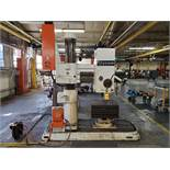 AMERICAN RADIAL ARM DRILL, 8'' COLUMN, 4' ARM, 45-2,250 RPM, FRICTION ADJUSTMENT, 20'' X 24'' X 12''