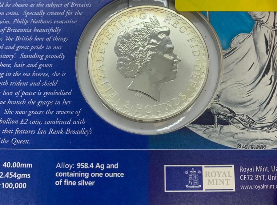 Lot 37 - A 2002 Silver Bullion Britannia