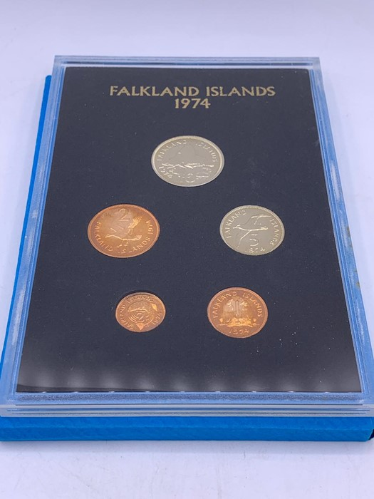 Lot 58 - Commonwealth coin proof set for Falklands 1974