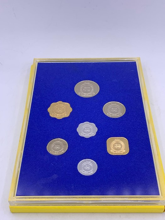Lot 56 - Commonwealth coin proof set for Ceylon 1971