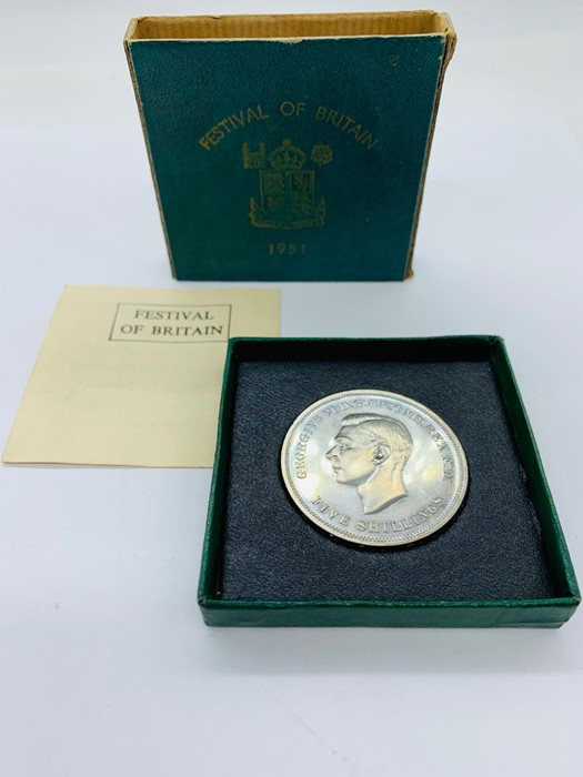 Lot 10 - A 1951 Festival of Britain, cased Crown.