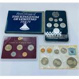 Four collectors coin packs 1994 Armenian coin set, 1967 coins of New Zealand, Coins of Norway 2003