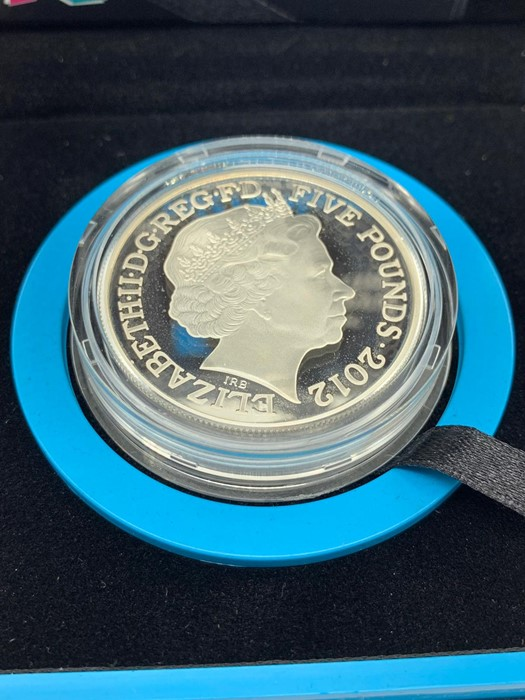 Lot 46 - A silver Proof London 2012 Paralympic Games £5 piedfort coin