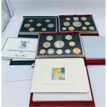 Three United Kingdom Proof Sets for 1985, 1998 and 1999.