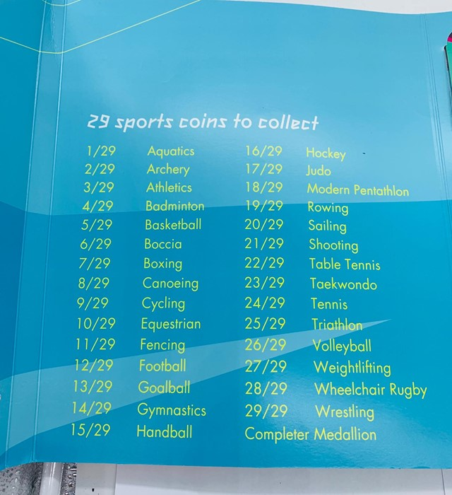 Lot 48 - A Royal Mint London 2012 Olympics 50p Sports Collection 29 coins in total and completer medallion.