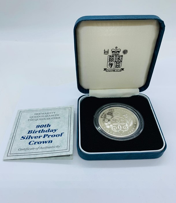 Lot 28 - A 90th Birthday Silver Proof Crown