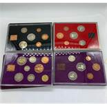 Four Collectors packs for the coinage of Great Britain and Northern Ireland 1970,1971, 1980 and