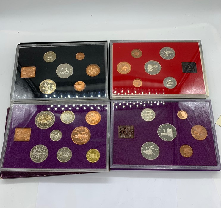 Lot 23 - Four Collectors packs for the coinage of Great Britain and Northern Ireland 1970,1971, 1980 and