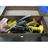 Tool Box with assorted Chisels & Air Hammer. Hit # 2202917. Bldg. 1 Maint. Shop. Asset Located at