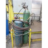 Torch Set. Oxygen & Acetylene Gauges , Hose, Torch & Stand. Tanks Not included. Hit # 2202879.