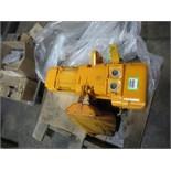 Harrington Code ER010M 1 Ton Crane Hoist, No Pendent. SN# 00032640. Hit # 2202997. Bldg.1 Cage.