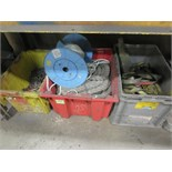 Lot (Qty 3) Tubs of Chain Slings & Rope. Hit # 2202886. Bldg.1 Maint. Shop. Asset Located at 820 S