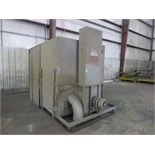 """Down Draft Table with dust collector, On Casters, Approx 74"""""""" w x 135""""""""L x 91"""". Hit # 2202839."""