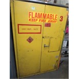 """Flammable Storage Cabinet, 42"""" x 66"""" x 18""""d. Contents not included. Hit # 2203006. Bldg.1 Elect."""