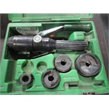 Greenlee Hydraulic Punch Driver Set. Hit # 2202895. Bldg.1 Maint. Shop. Asset Located at 820 S