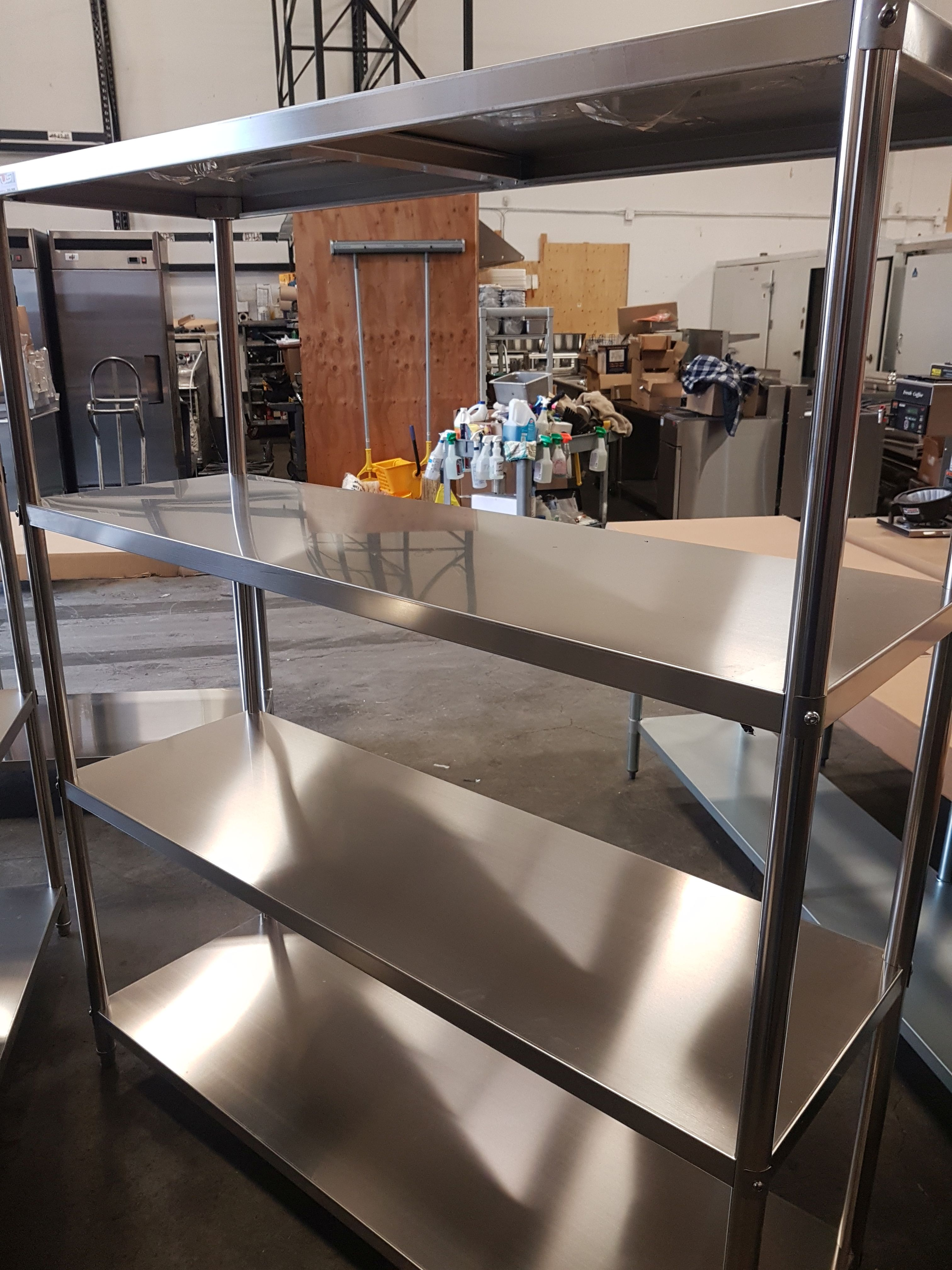 """Lot 14 - 19.5"""" x 58.5"""" x 72"""" All Stainless 4 Shelf Unit - USSS-150050"""