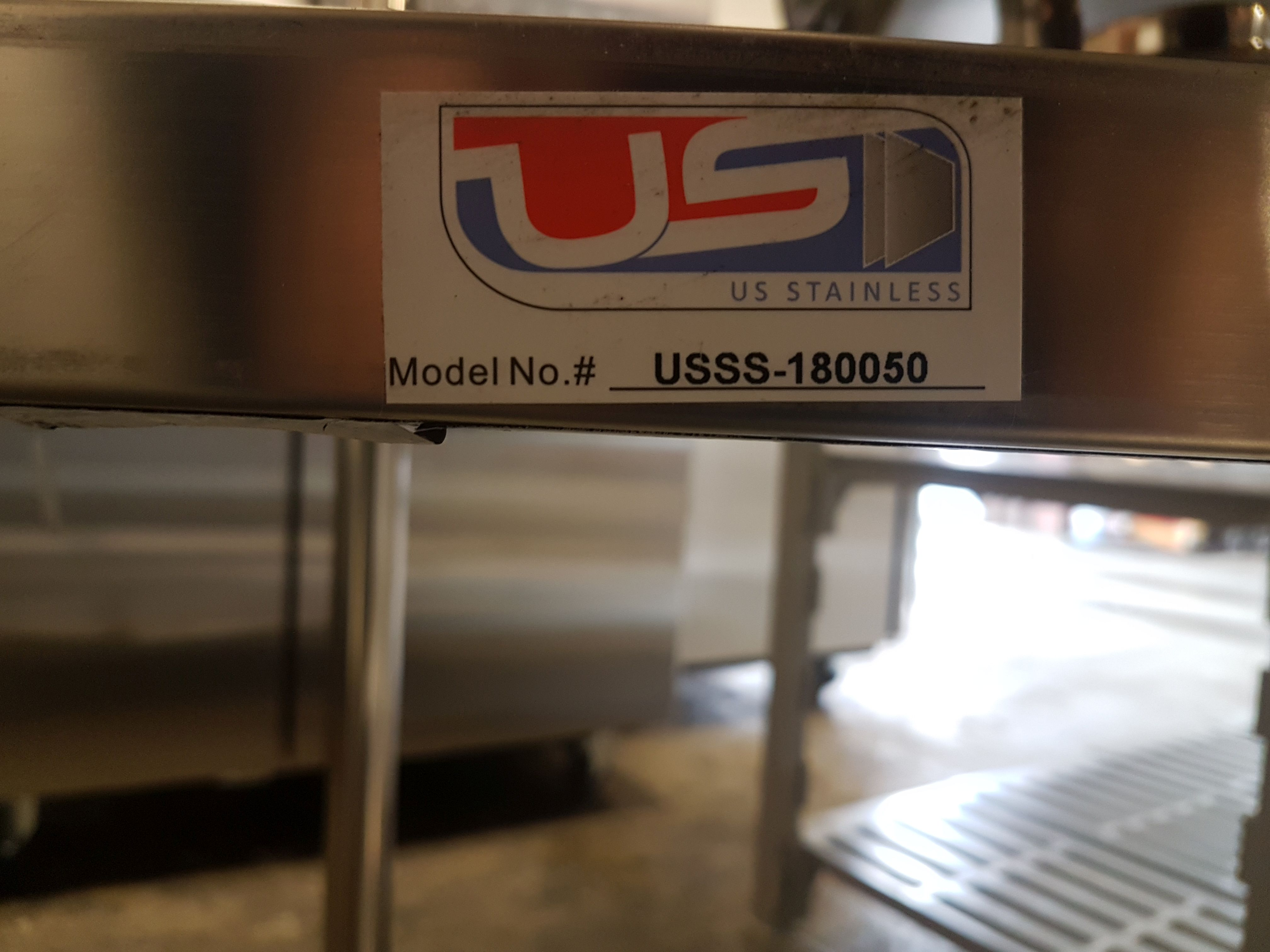 "Lot 9 - 19.5"" x 70.5"" x 72"" All Stainless 4 Shelf Unit - USSS-180050"
