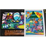 Helmut Kand (born 1946), Two colour art prints on paper, landscapes.70 x 50 cmDieses Los wird in