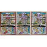 Peter Sengl (1945 born), Three colour lithographs on paper.63 x 55 cmDieses Los wird in einer