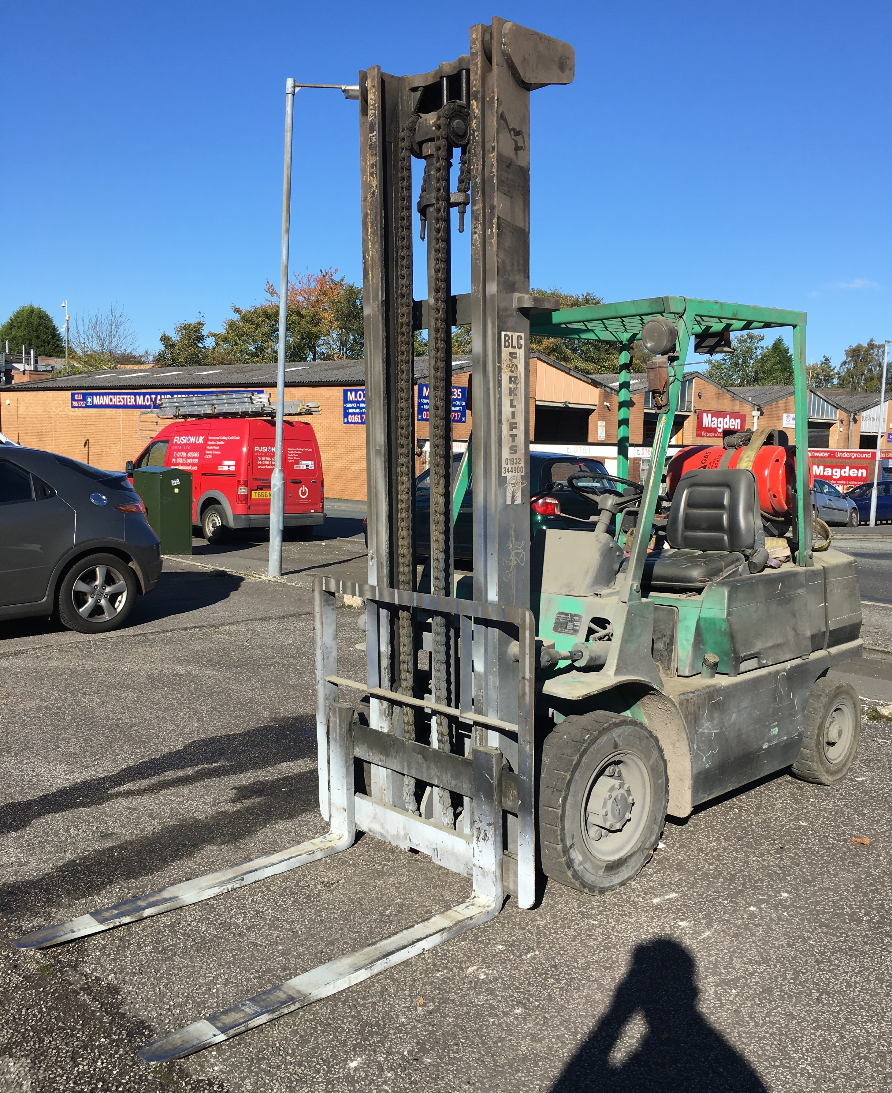 Mitsubishi Gas Forklift Model: FC25 Hours: 2784 This lot is