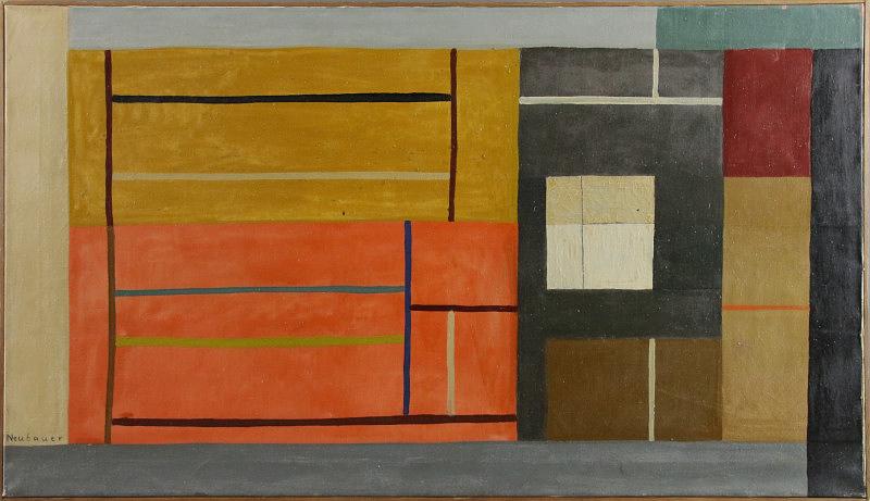 "Lot 207 - Egon Neubauer (1920 - 1991) - Öl auf Leinwand, ""Sombra (Umbra)"", um 1950 unten links signiert """