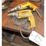 "Lot-(2) DEWALT 1/2"" Electric Drills"