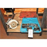 "Lot of (1) BOSCH MODEL B2300 Cordless Drill and (1) SKILSAW 7 1/4"" Circular Saw"
