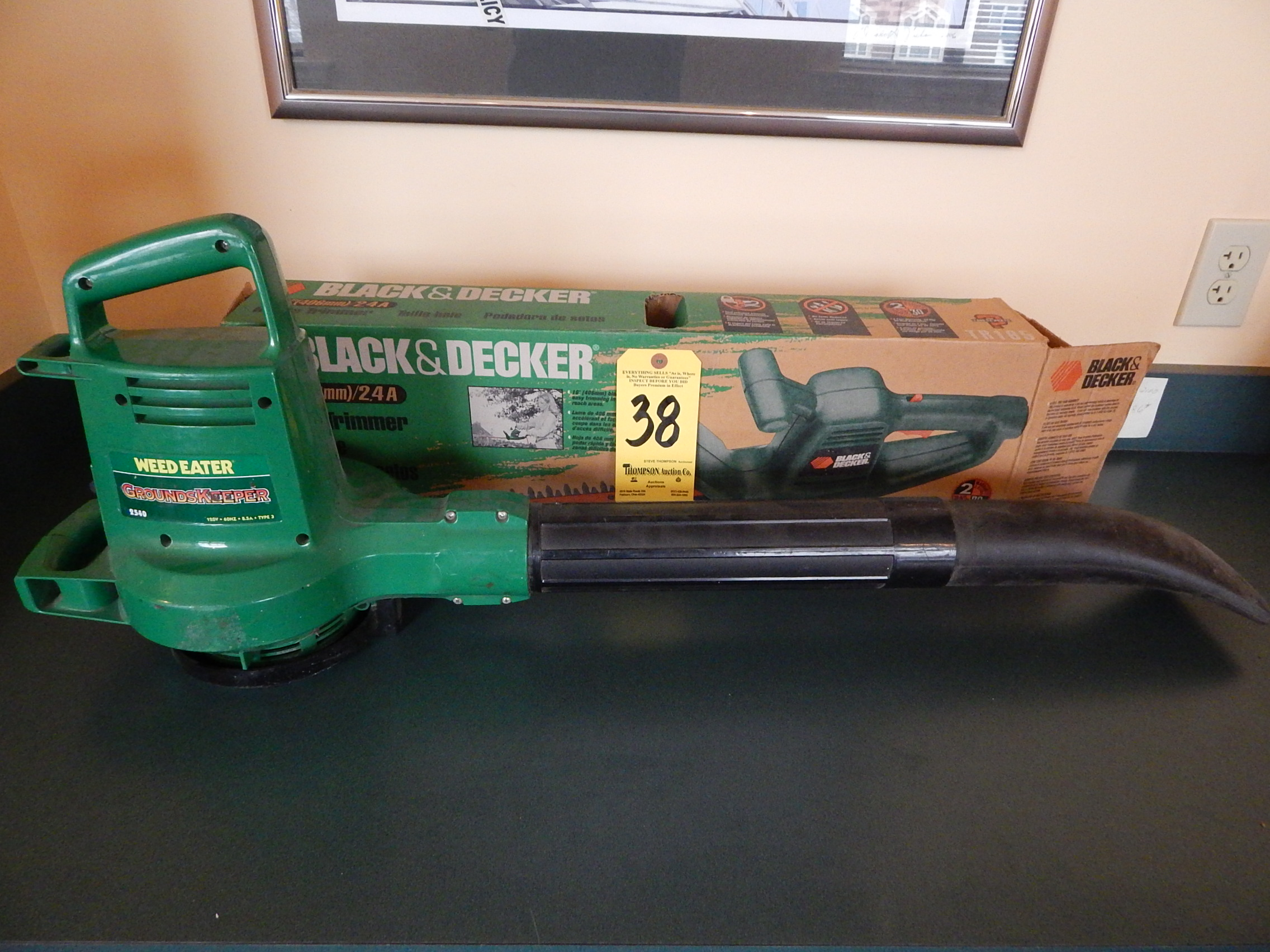Weed Eater Electric Blower And Black Decker Hedge Trimmer